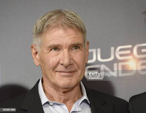 Actor Harrison Ford attends a photocall for 'Ender's Game' at Villamagna Hotel on October 3, 2013 in Madrid, Spain.