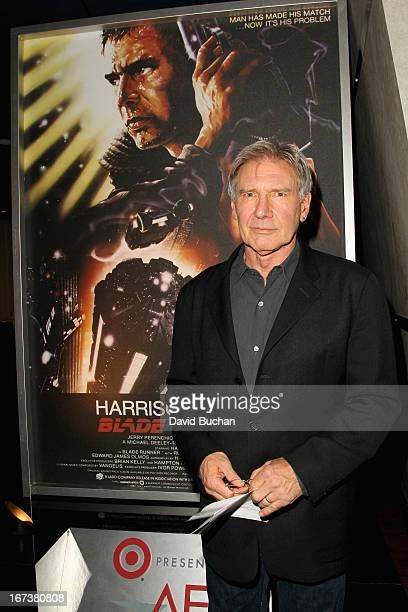Actor Harrison Ford attends Blade Runner at Target Presents AFI's Night at the Movies at ArcLight Cinemas on April 24 2013 in Hollywood California