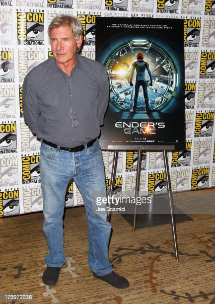 Actor Harrison Ford attends Ender's Game ComicCon Press Line at San Diego Convention Center on July 18 2013 in San Diego California