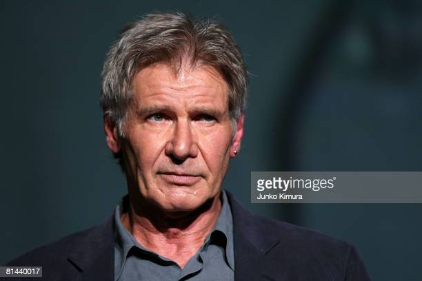 Actor Harrison Ford attends 'Indiana Jones and the Kingdom of the Crystal Skull' Japan Premiere at the National Yoyogi Gymnasium on June 5 2008 in...