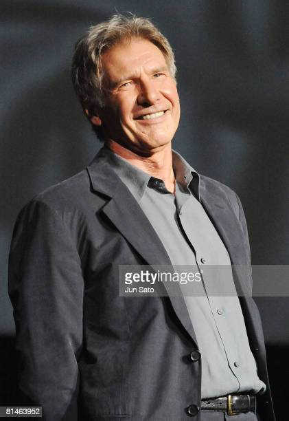 Actor Harrison Ford attends Indiana Jones and the Kingdom of the Crystal Skull Japan Premiere at the National Yoyogi Gymnasium on June 5 2008 in...