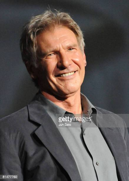 """Actor Harrison Ford attends """"Indiana Jones and the Kingdom of the Crystal Skull"""" Japan Premiere at the National Yoyogi Gymnasium on June 5, 2008 in..."""