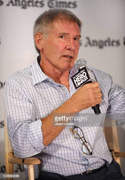Actor Harrison Ford attends Los Angeles Times' Hero Complex 30th anniversary screening of 'Raiders Of The Lost Ark' at LA LIVE on September 12 2011...