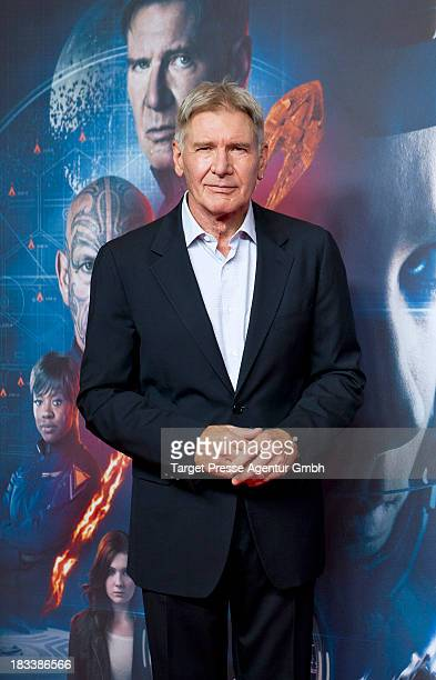 Actor Harrison Ford attends the 'Ender's Game' Photocall at Hotel Adlon on October 6 2013 in Berlin Germany