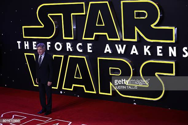 US actor Harrison Ford attends the opening of the European Premiere of 'Star Wars The Force Awakens' in central London on December 16 2015 Ever since...