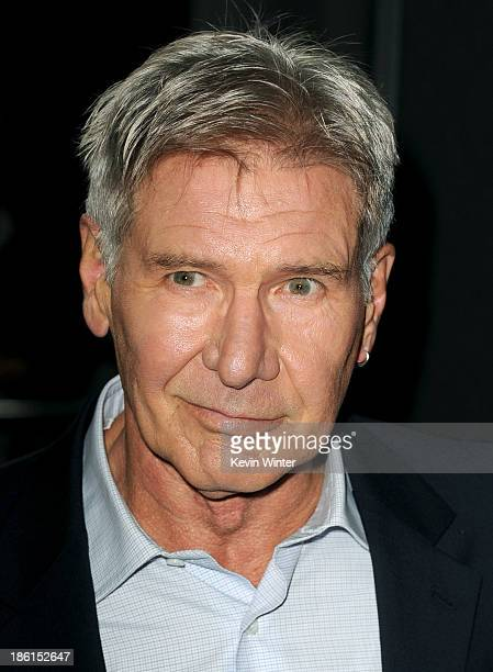 Actor Harrison Ford attends the Premiere Of Summit Entertainment's Ender's Game at TCL Chinese Theatre on October 28 2013 in Hollywood California