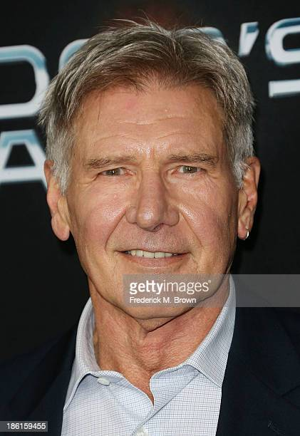 Actor Harrison Ford attends the Premiere of Summit Entertainment's Ender's Game at the TCL Chinese Theatre on October 28 2013 in Hollywood California