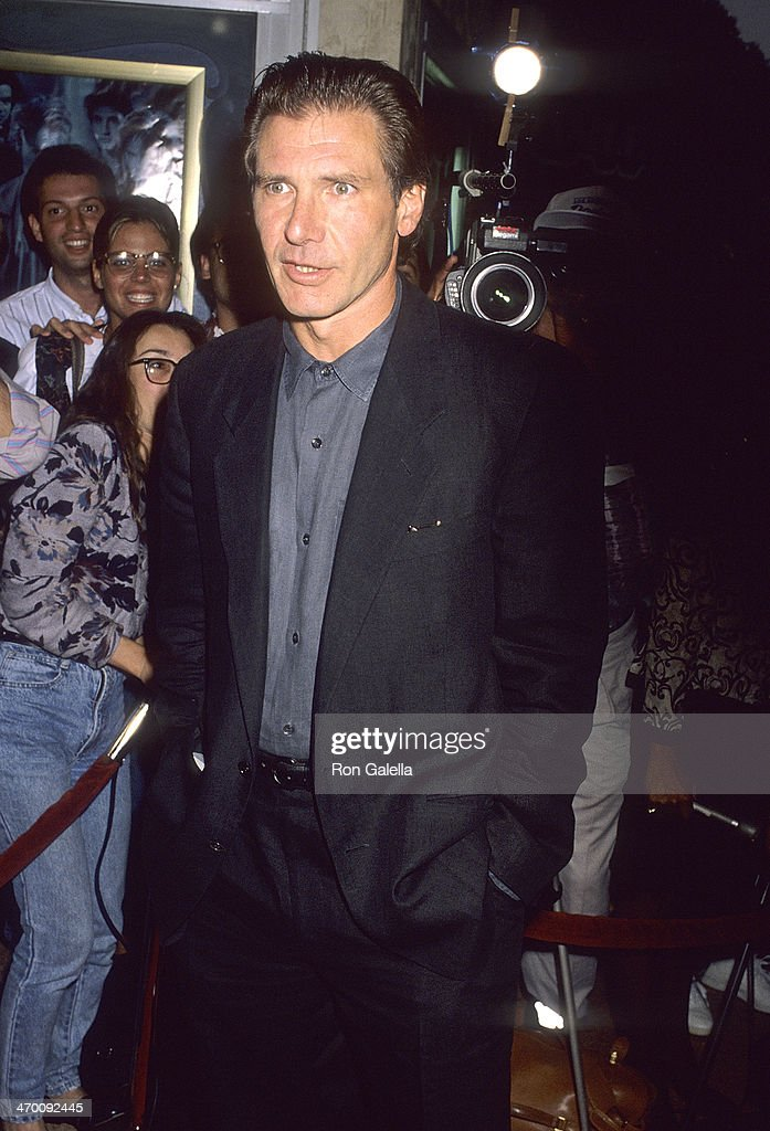 Actor Harrison Ford Attends The U0027Presumed Innocentu0027 Westwood Premiere On  July 25 1990 At. U0027