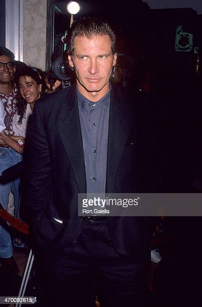 actor harrison ford attends the presumed innocent westwood premiere on july 25 1990 at - Presumed Innocent