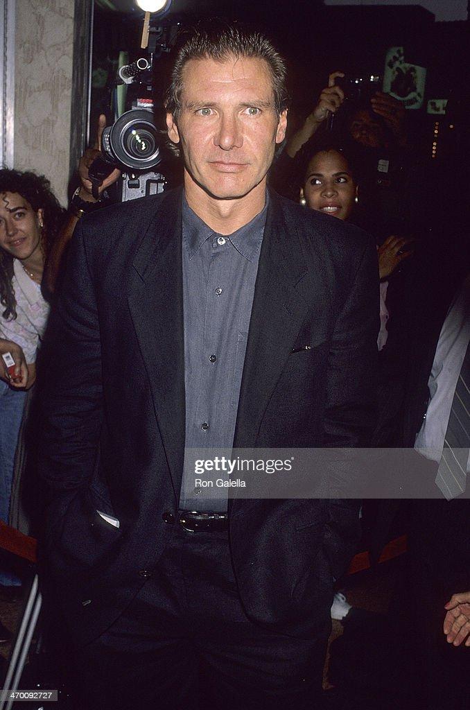 Actor Harrison Ford Attends The U0027Presumed Innocentu0027 Westwood Premiere On  July 25 1990 At  Harrison Ford Presumed Innocent