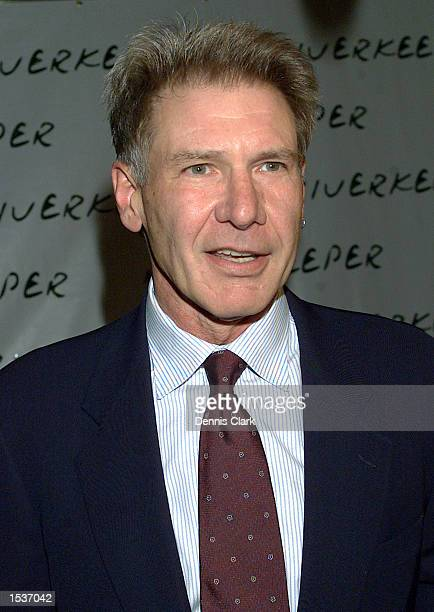 Actor Harrison Ford attends the Riverkeeper dinner April 22 2002 at Pier 60 of the Chelsea Piers in New York City