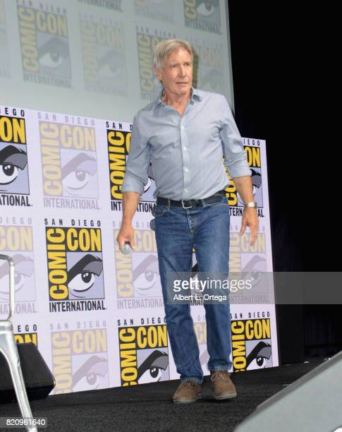 Actor Harrison Ford attends the Warner Bros Pictures Blade Runner 2049 Presentation during ComicCon International 2017 at San Diego Convention Center...