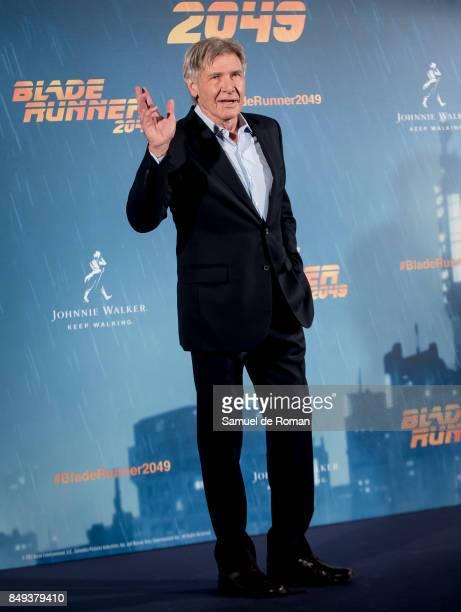 Actor Harrison Ford during 'Blade Runner 2049' Madrid Photocall on September 19 2017 in Madrid Spain