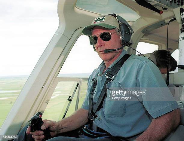 Actor Harrison Ford Flies His Helicopter July 10 2001 Near Jackson Wy Ford Located And Rescued Missing 13YearOld Boy Scout Cody Clawson