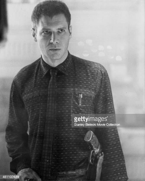 Actor Harrison Ford in a scene from the movie 'Blade Runner' 1982
