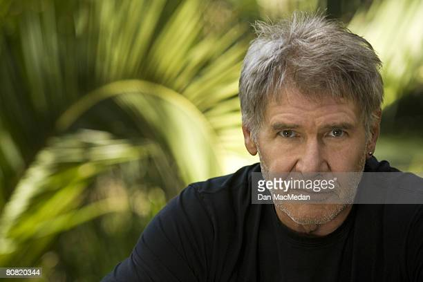 Actor Harrison Ford poses at a portrait session in Temescal Canyon outside of Los Angeles CA Published image