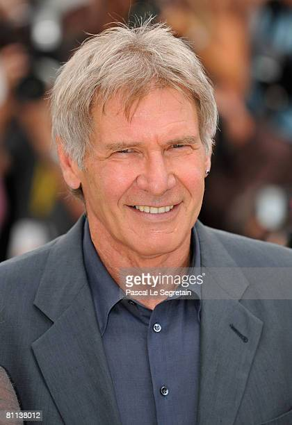 Actor Harrison Ford poses during the Indiana Jones and The Kingdom of The Crystal Skull photocall at the Palais des Festivals during the 61st...