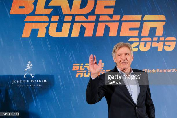US actor Harrison Ford poses during the photocall of the film 'Blade Runner 2049' in Madrid on September 19 2017