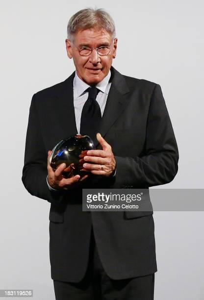 Actor Harrison Ford receives the Golden Eye For Lifetime Achievement on October 4 2013 in Zurich Switzerland