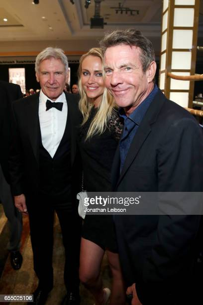 Actor Harrison Ford Santa Auzina and actor Dennis Quaid attend Muhammad Ali's Celebrity Fight Night XXIII at the JW Marriott Desert Ridge Resort Spa...