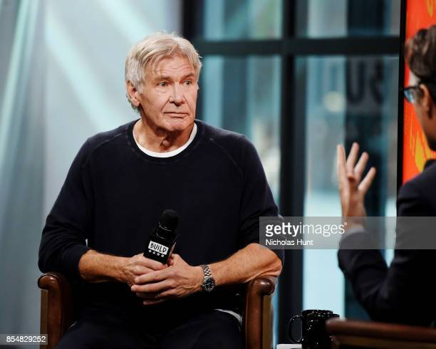 """Actor Harrison Ford visits Build Series to discuss the movie """"Blade Runner 2049"""" at Build Studio on September 27, 2017 in New York City."""
