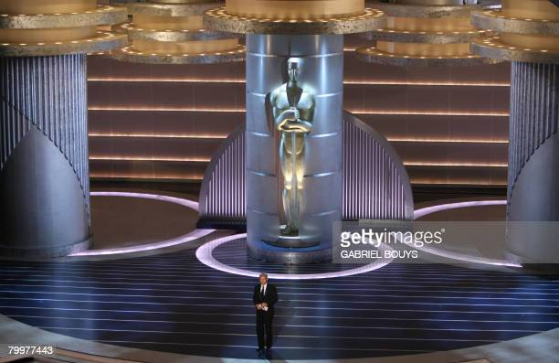 Actor Harrisson Ford presents the award for Best Original Screenplay at the 80th Annual Academy Awards at the Kodak Theater in Hollywood California...
