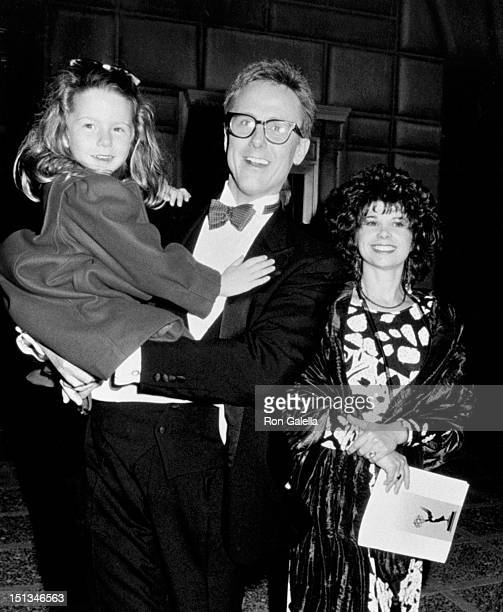 Actor Harry Anderson wife Leslie Pollack and daughter Eva Anderson attend 38th Annual Primetime Emmy Awards on September 21 1986 at the Pasadena...
