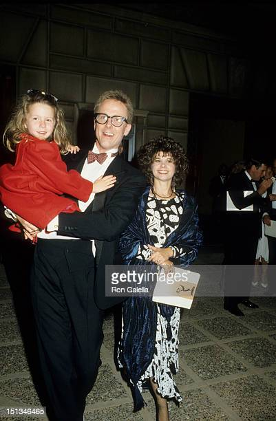 Actor Harry Anderson wife Leslie Pollack and daughter Eva Fay Anderson attend 38th Annual Primetime Emmy Awards on September 21 1986 at the Pasadena...