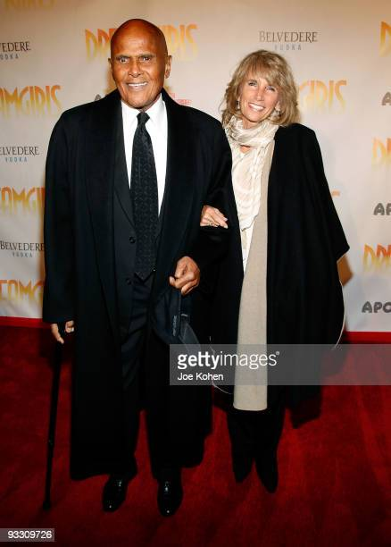 Actor Harry Belafonte and his wife Pamela Belafonte attend the opening night of 'Dreamgirls' at The Apollo Theater on November 22 2009 in New York...