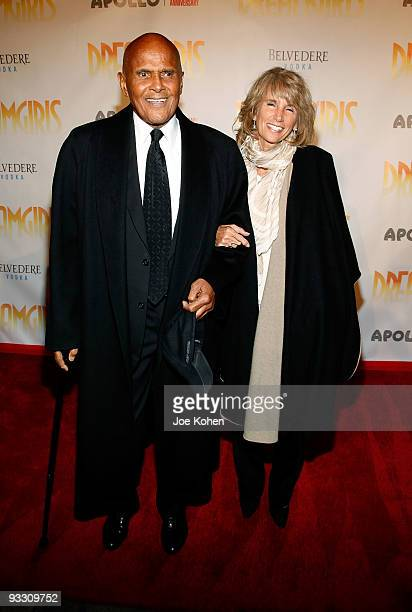 Actor Harry Belafonte and his wife Pamela Belafonte attend the opening night of Dreamgirls at The Apollo Theater on November 22 2009 in New York New...