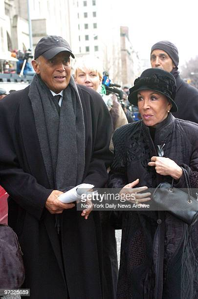 Actor Harry Belafonte and wife Julie leave Riverside Church in Harlem after attending funeral services for Ossie Davis The 87yearold actor died Feb 4...