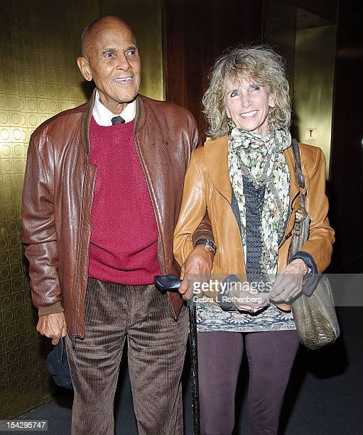 Actor Harry Belefonte and his wife Pamela Frank attend the Chasing Ice premiere at the Museum of Art and Design on October 17 2012 in New York City