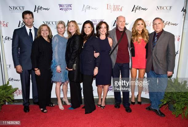 Actor Harry Connick Jr National Breast Cancer Coalition President Fran Visco actress Renee Zellweger actress Amy Madigan Lifetime Networks President...