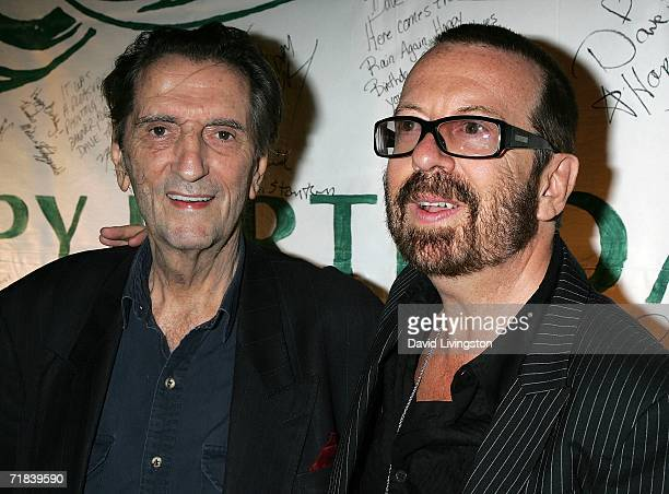 Actor Harry Dean Stanton and musician Dave Stewart attend the reception for a new song honoring the 35th anniversary of Greenpeace's founding at SIR...
