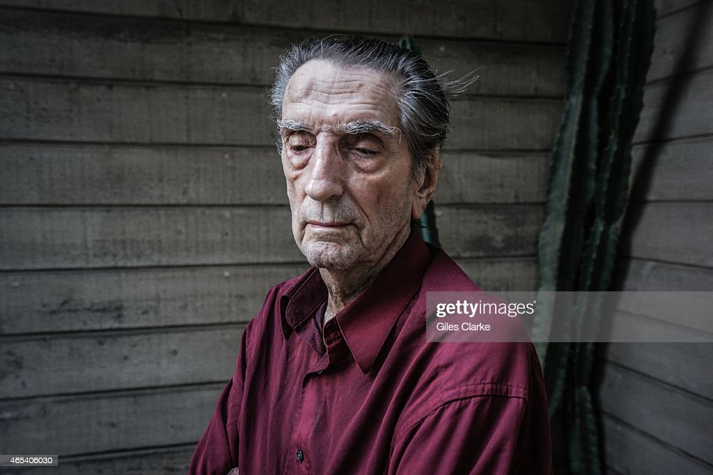 Actor Harry Dean Stanton stands outside of his home on February 23, 2015 in Los Angeles, California.
