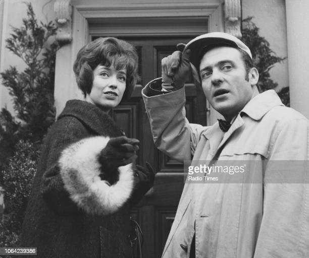 Actor Harry H Corbett and Patricia Haines in a scene from episode 'Is That Your Horse Outside' of the television sitcom 'Steptoe and Son' January...