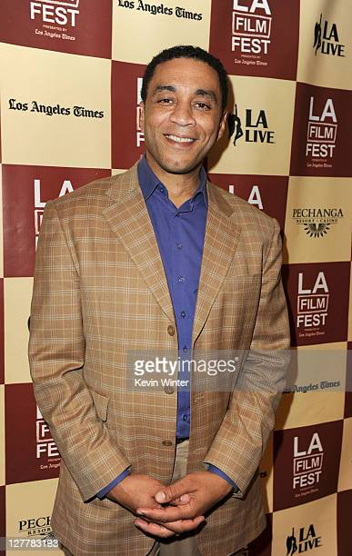 Actor Harry Lennix attends The Art of Translation: A Conversation with Julie Taymor during the 2011 Los Angeles Film Festival at The GRAMMY Museum on...
