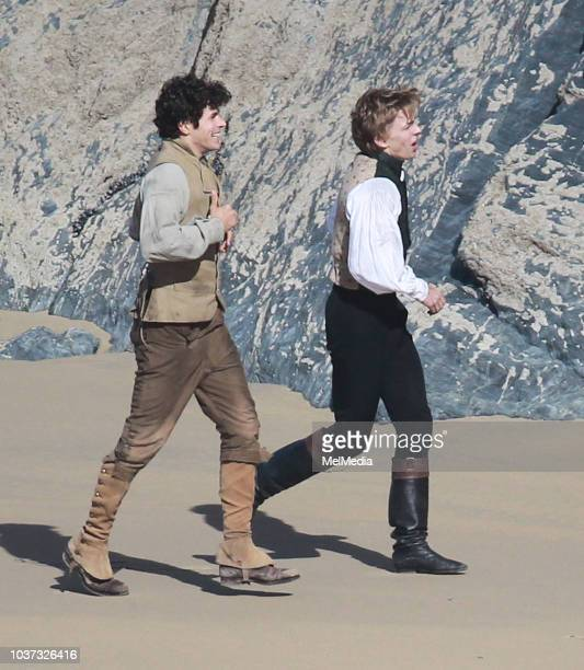 Actor Harry Richardson filming the fifth season of Poldark on September 21 2018 in Cornwall England