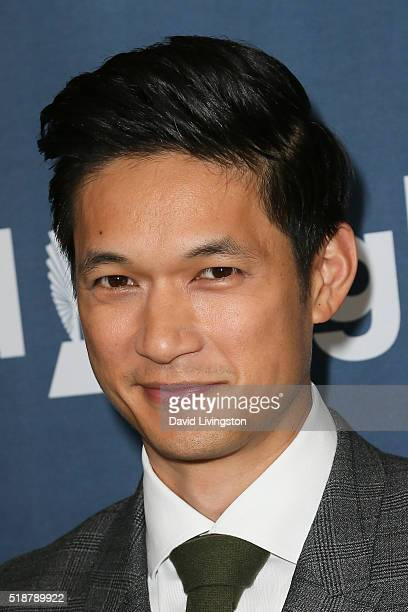 Actor Harry Shum Jr arrives at the 27th Annual GLAAD Media Awards at The Beverly Hilton Hotel on April 2 2016 in Beverly Hills California