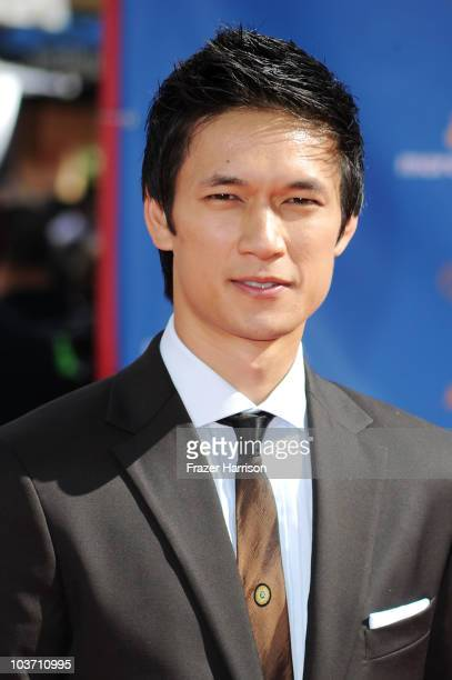 Actor Harry Shum Jr arrives at the 62nd Annual Primetime Emmy Awards held at the Nokia Theatre LA Live on August 29 2010 in Los Angeles California
