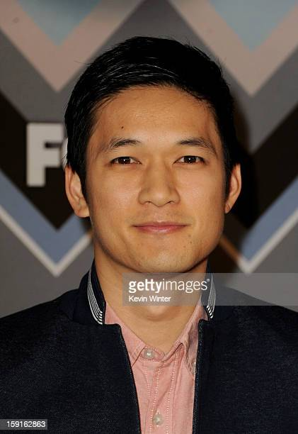 Actor Harry Shum Jr. Arrives at the FOX All-Star Party at the Langham Huntington Hotel on January 8, 2013 in Pasadena, California.
