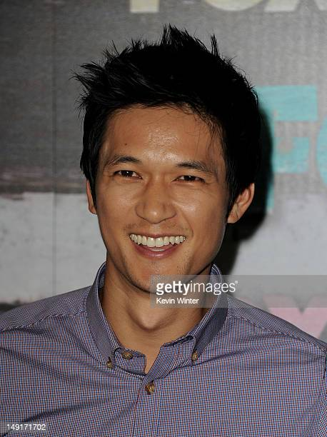 Actor Harry Shum Jr. Arrives at the FOX All-Star party on July 23, 2012 in West Hollywood, California.