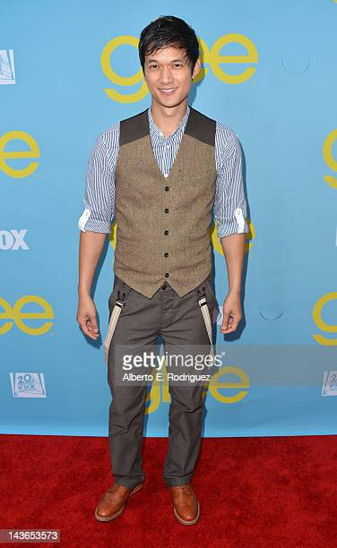 Actor Harry Shum Jr arrives to The Academy of Television Arts Sciences' screening of Fox's Glee at Leonard Goldenson Theatre on May 1 2012 in North...