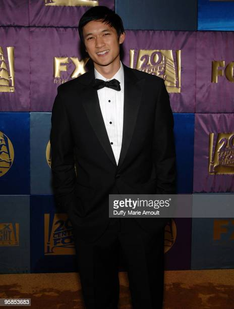 Actor Harry Shum Jr attends Fox's 2010 Golden Globes Awards Party at Craft on January 17 2010 in Century City California