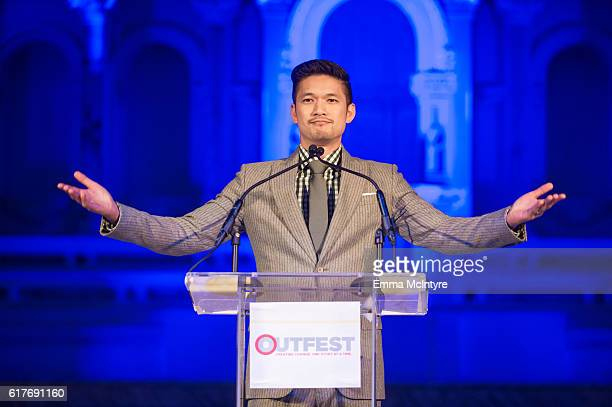 Actor Harry Shum Jr attends the 12th Annual Outfest Legacy Awards at Vibiana on October 23 2016 in Los Angeles California