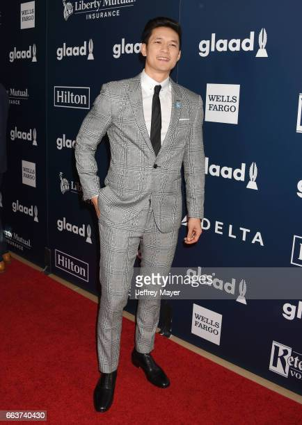 Actor Harry Shum Jr attends the 28th Annual GLAAD Media Awards in LA at The Beverly Hilton Hotel on April 1 2017 in Beverly Hills California