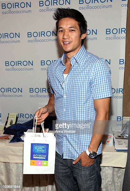 Actor Harry Shum Jr attends the HBO Luxury Lounge in honor of the 62nd Primetime Emmy Awards held at The Four Seasons Hotel on August 28 2010 in...
