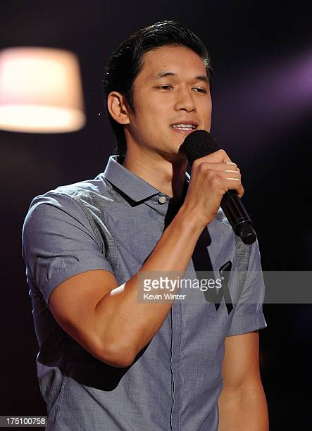 Actor Harry Shum, Jr. Speaks onstage at the DoSomething.org and VH1's 2013 Do Something Awards at Avalon on July 31, 2013 in Hollywood, California.