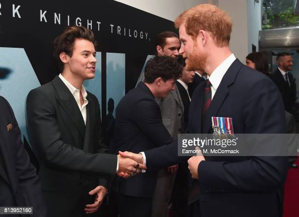 Actor Harry Styles and Prince Harry attend the 'Dunkirk' World Premiere at Odeon Leicester Square on July 13 2017 in London England