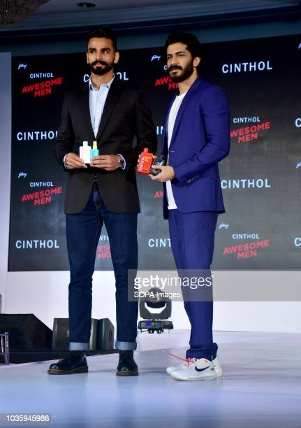 Actor Harshvardhan Kapoor and Asian games gold medalist Arpinder Singh launched Godrej Cinthol's all new men's grooming range 'ALIVE LOOKS FOR...